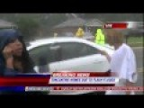 Woman Interrupts Reporter To Complain About This Motherfu*ker Flooding