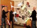 Guys Juggle Energy Swords