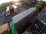 Moron Jumps From The Top Of Shipping Container Knocks Out Teeth