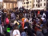 Hundreds Take Part In 'zombie' Walk At Venice Carnival Kickoff