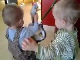 Twins Fight Over Toy Guitar