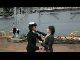 US Navy Same Sex Petty Officer Couple Celebrate The 'first Homecoming Kiss': Virginia Beach