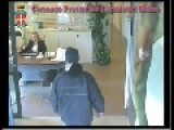 Milan, Italy. While Two Robbers Attacked A Bank Are Caught And Arrested By The Police