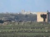 A Syrian Sunni Arab Tank Hunter Gets A Hit On Assad Regime ZSU-23-4, With HJ-8 ATGM: Quneitra Feb 19th, '14