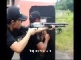 Female SWAT Officer Gets 12-gauge To Her Face For Not Holding It Properly W Subtitles