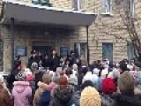 Ukraine - Anti Mobilization Protest In Velikonovoselkovsk Near Slavyansk Russian
