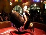Is She Riding That Mechanical Bull, Or Humping It ?