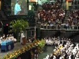 Graduate Entertains Crowd With Hilarious Speech