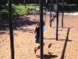 Girl Really Had Fun With Thong Swing