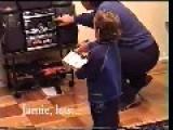 Toddler Bashes Grandma's Taste In Music