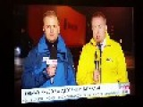 News Reporters Almost Dies Sic!