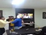 Over Excited Guy Breaks His Tv When Chile Miss