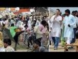 Crowd Steals Seats As Politician Makes Speech In India