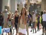 French 'fashion' Television Was Filming On Tel Aviv
