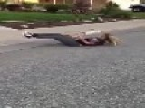 Mom On Skateboard Eats Pavement