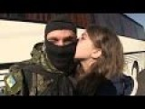 Girls Kiss Loved Ones Before Azov Battalion Leaves For East Front