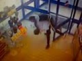 Judo Throw Of Robber CCTV Footage