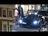 Angry Man Throws An Apple At A Lamborghini Aventador