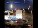 Truck Wipes Off The Whole Intersection