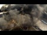 Ukraine Wars - UAV At Work Exploration And Correction Of Artillery Fire Donetsk Airport