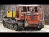 Old Rusted Monster Tractor Altay TT-4 - Wood Transporter
