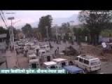 LIVE Footage Of Earthquake In Kathmandu Graphic Warning