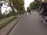 Cyclists Tumble During Bike Ride