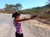 12-Year-Old Girl Shoots .40 Cal Handgun For The First Time