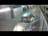 Completely Drunk Guy Tries To Drive Out Of An Underground Garage
