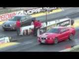 Dodge Charger RT Vs Camaro SS, Mustang GT Drag Race