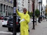 'Obama' Dresses In Hazmat Suit To Spread 'Obola' In Chicago