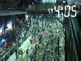 1,200 Workers Scramble To Convert Above Ground Railway Into Subway