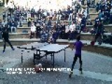 10-Year-Old Girl Kills It In Table Tennis Playoff