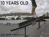 10 Year Old Kid Shreds Skatepark