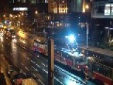 Tram Throwing Out Some Big Sparks