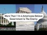 1 In 4 Americans Know Government Is The Enemy