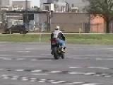 Moto Wheelie Practice Gone Wrong