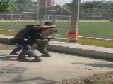 Undercover Mexican Cops Save Uniformed Colleagues Who Are Losing A Fight