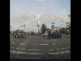 Cars Almost Crash At Intersection
