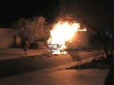 Burning Truck Crashes Into Fire Engine