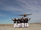 Fat Albert Flies Over The Silent Drill Platoon