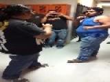 ** FAT BOYS ** Fight In The Locker Room = Hug It Out Afterwards =