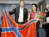 Soprano Anna Netrebko Has Ruffled Feathers After Being Photographed With The Flag Of Pro-Russian Ukrainian Separatist