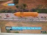 15 Story NASA Space Shuttle Fuel Tank Moving To California Science Center On L.A. Freeway