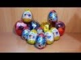 12 Surprise Eggs Unboxing - New 2014
