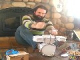 Musician Unleashes Epic Performance On Tiny Drum Set