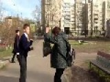 2 Russian Kids Fighting -ends With A Kick To The Head