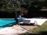 Mom Falls Backwards Into Pool