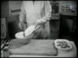 A Countrywoman Demonstrating How To Make Pork And Rabbit Pie 1934