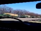 A Detachment Of Eighteen Ukrainian Army BM-27 'Urugan' Multiple Rocket Launchers Filmed Near Sumy